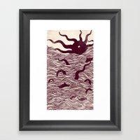Octopus The Rising Sun I… Framed Art Print