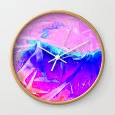 Aurora 3 - Ultraviolet Wall Clock