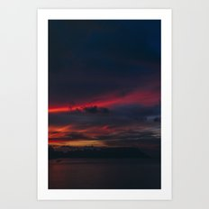 Sunset on the Island Art Print
