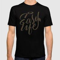 Easy Life Mens Fitted Tee Black SMALL