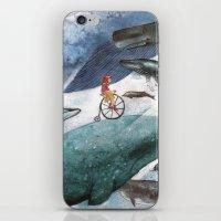 Whales iPhone & iPod Skin