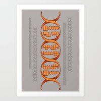 Gaming DNA Art Print