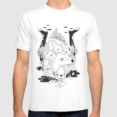 Animal's hat Mens Fitted Tee White SMALL