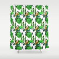 Jamaican Botanicals - Fr… Shower Curtain