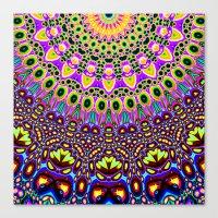 Vibrant Pop Art Pattern Canvas Print