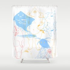 Gods of the Planets Shower Curtain