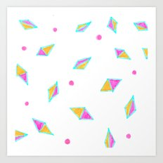 Gems of Pink and Gold Art Print