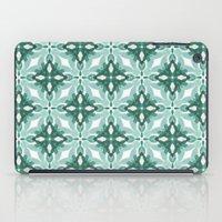 Watercolor Green Tile 2 iPad Case
