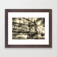 Hammersmith Bridge Londo… Framed Art Print