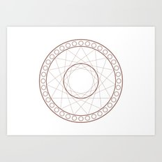 Anime Magic Circle 17 Art Print