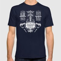 Legend Of Zelda Vintage … Mens Fitted Tee Navy SMALL