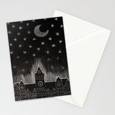 black night Stationery Cards