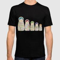 Rainbow Matryoshka Nesti… Mens Fitted Tee Black SMALL