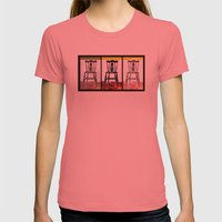Chair Trio Womens Fitted Tee Pomegranate SMALL