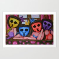 The Ghostesses Of Capric… Art Print