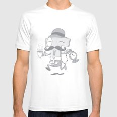 It's T time! Mens Fitted Tee SMALL White