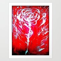 JUSSI FLOWER ROSE Art Print