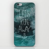Let's Run Away - Ocean Waves iPhone & iPod Skin