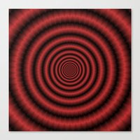 Fractal Rings In Red Canvas Print