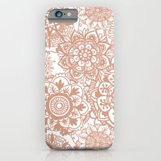Rose Gold Mandala Pattern iPhone 6 Slim Case