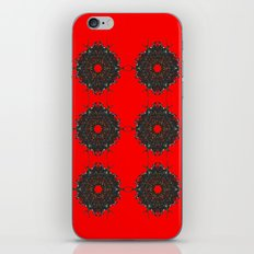 red stars iPhone & iPod Skin