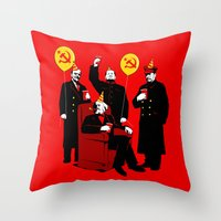 Communist Party II: The Communing Throw Pillow