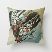 Capillaries Throw Pillow