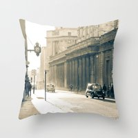 Old Street That Vanishes Throw Pillow