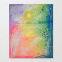 Impressions At Sundown  Canvas Print
