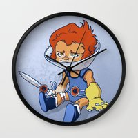Lion-Ow Wall Clock