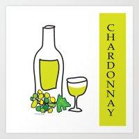 Chardonnay Wine Art Print