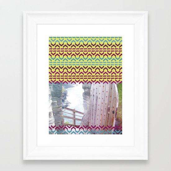 AZTEC 'Door Into Summer'_1-2 Framed Art Print