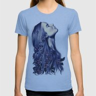 Bloom Womens Fitted Tee Athletic Blue SMALL