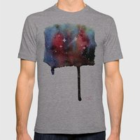 Little Nebula Watercolor Mens Fitted Tee Athletic Grey SMALL