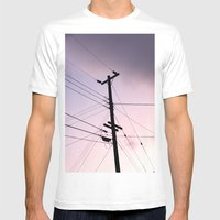 Lines Of Communication Mens Fitted Tee White SMALL