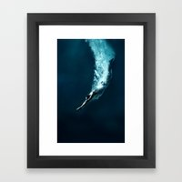 Olympic game swim Framed Art Print