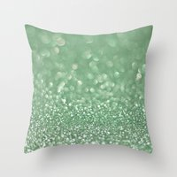 Seafoam bokeh Throw Pillow