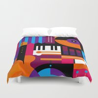 Music Mosaic Duvet Cover