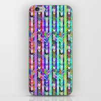 CRAZY CHEVRONS ARROWS TRICOLOR iPhone & iPod Skin