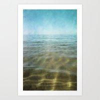 Golden Sea Art Print