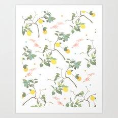 Lovely Lemons Art Print