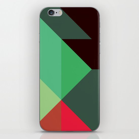 Green & Red Triangles iPhone & iPod Skin