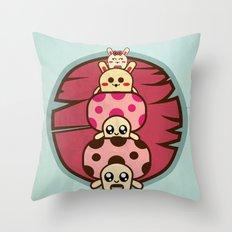 Mushrooms and Throw Pillow