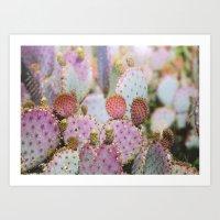 Cotton Candy Cacti Art Print