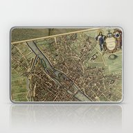 Old Paris Map And Other … Laptop & iPad Skin