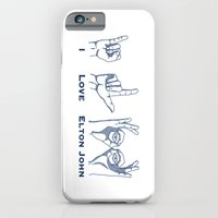 iPhone & iPod Case featuring I Love Elton V2 by TCarver