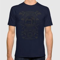 Barbershop Mens Fitted Tee Navy SMALL