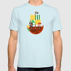 pirate ship Mens Fitted Tee Light Blue SMALL