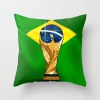 Brazil 2014 Throw Pillow