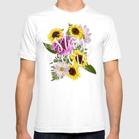 Stay Weird In Flowers //… Mens Fitted Tee White SMALL